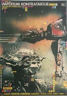<cite>The Empire Strikes Back</cite> Polish Movie Poster
