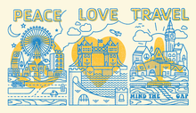 Peace, Love, Travel Posters for STA Travel