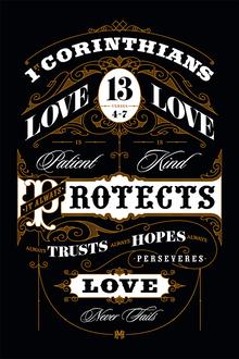1st Corinthians 13:4–7 art print