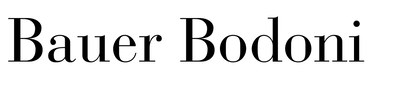 Bauer Bodoni