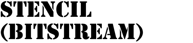 Stencil (Bitstream)