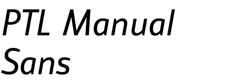 PTL Manual Sans