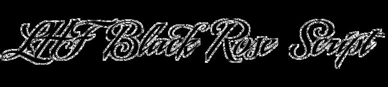 LHF Black Rose Script