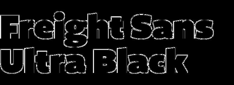 Freight Sans Ultra Black