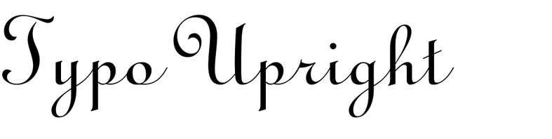 Typo Upright
