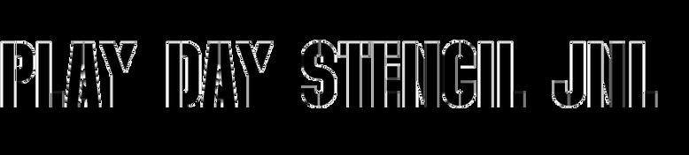 Play Day Stencil JNL