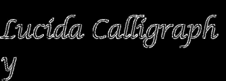 Lucida Calligraphy (Bigelow & Holmes)
