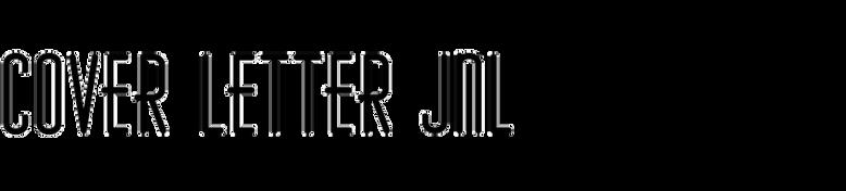 Cover Letter JNL