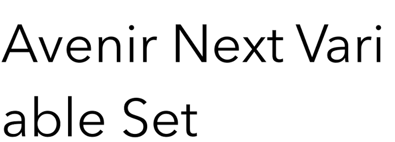 Avenir Next Variable Set
