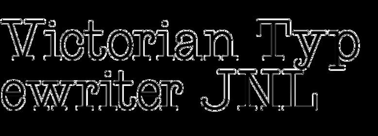 Victorian Typewriter JNL