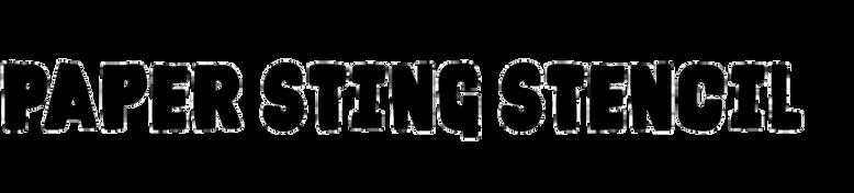 Paper Sting Stencil