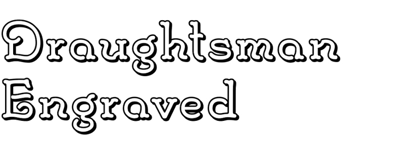 Draughtsman Engraved