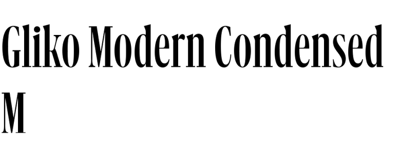 Gliko Modern Condensed M