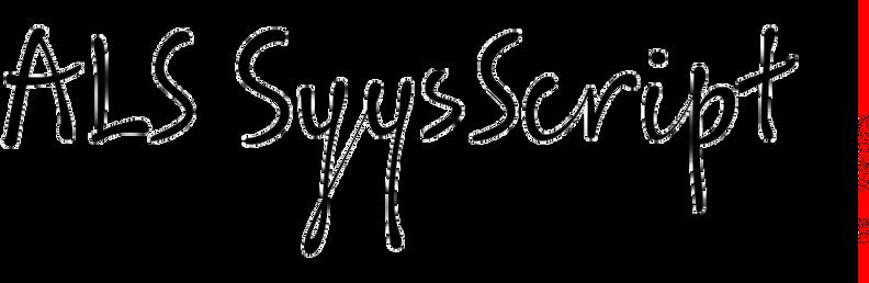 ALS SyysScript