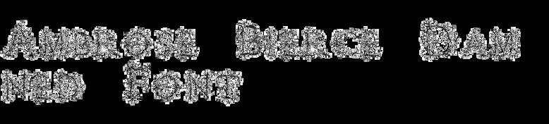 Ambrose Bierce Damned Font