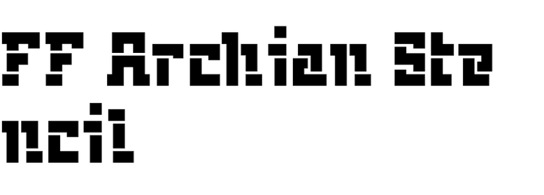 FF Archian Stencil