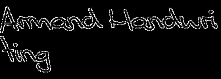 Armand Handwriting