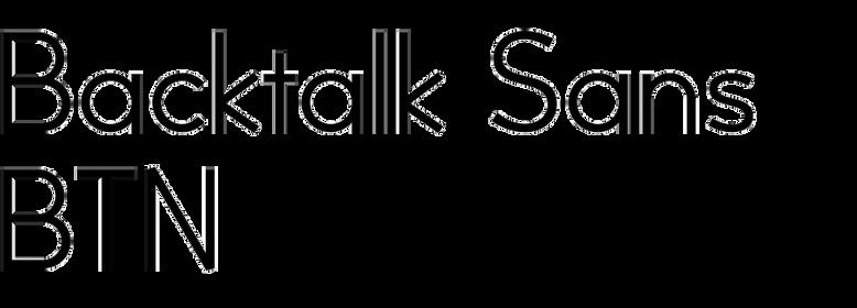 Backtalk Sans BTN