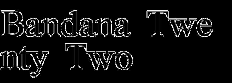 Bandana Twenty Two