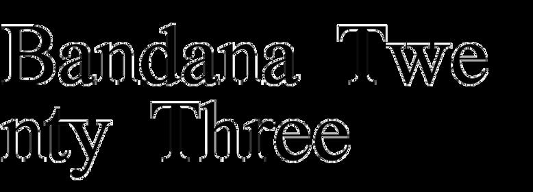 Bandana Twenty Three
