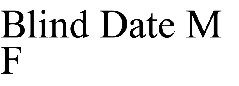 Blind Date MF