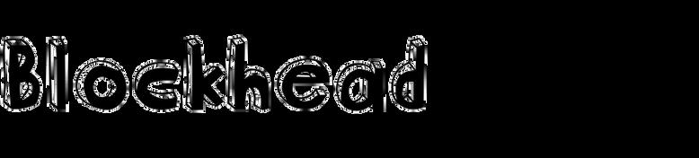 Blockhead Alphabet
