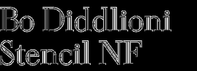 Bo Diddlioni Stencil NF