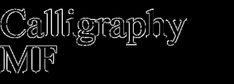 Calligraphy MF