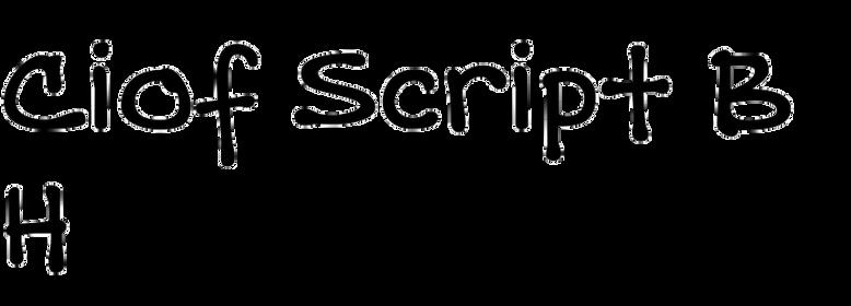 Ciof Script BH
