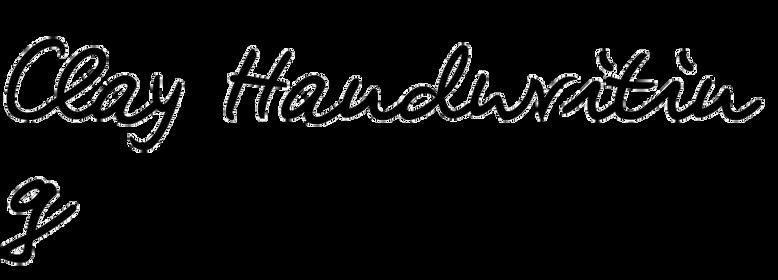 Clay Handwriting