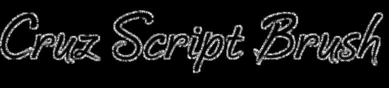 Cruz Script Brush