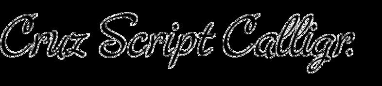 Cruz Script Calligraphic
