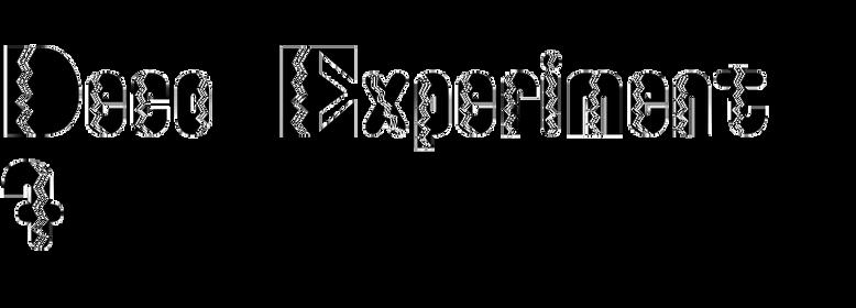 Deco Experiment 7