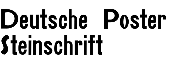 Deutsche Poster Steinschrift