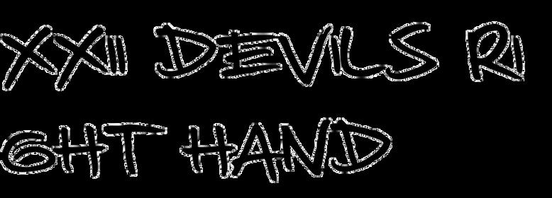 XXII DEVILS RIGHT HAND