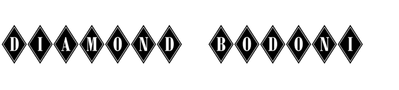 Diamond Bodoni