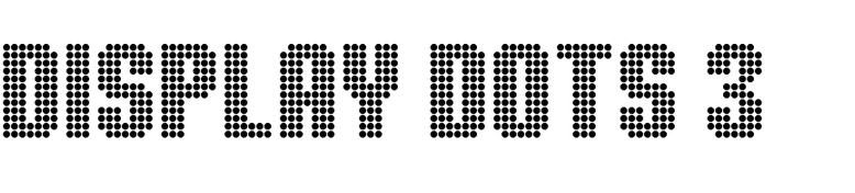 Display Dots Three Sans