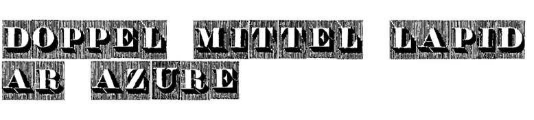 Doppel Mittel Lapidar Azure