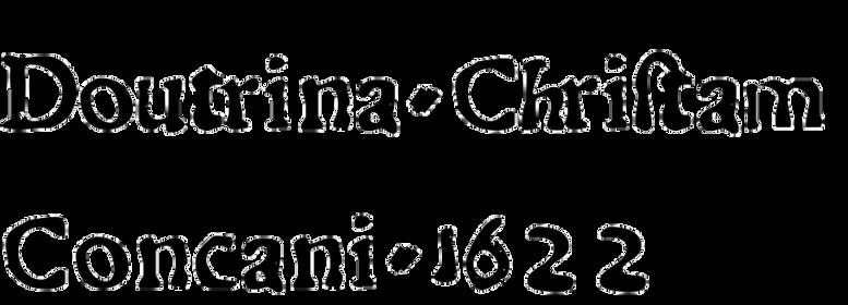 Dovtrina Christam Concani 1622