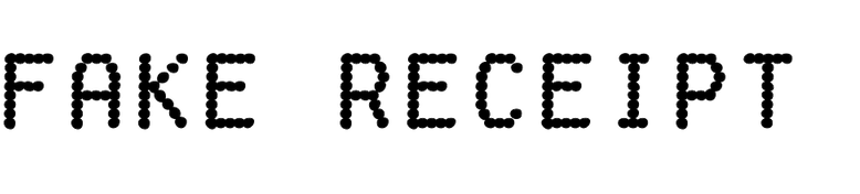 Fake Receipt