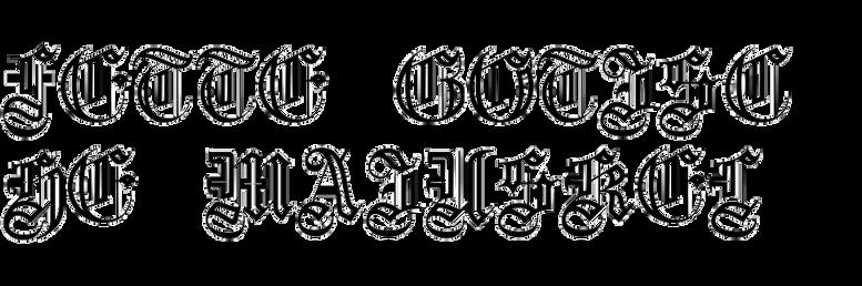 Fette Gotische Maiuskel