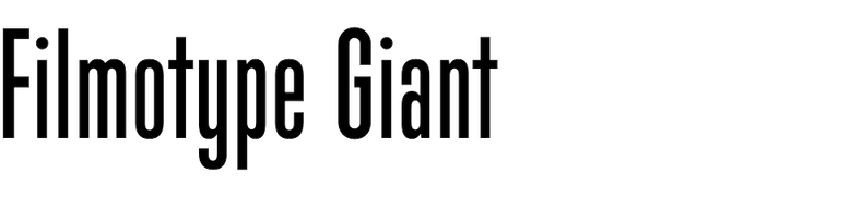 Filmotype Giant