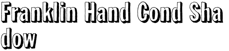 Franklin Hand Cond Shadow