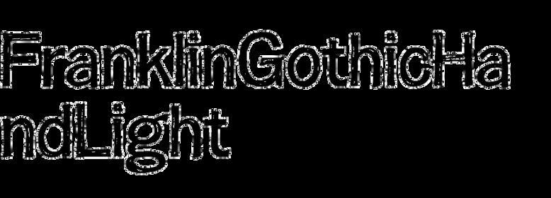 FranklinGothicHandLight