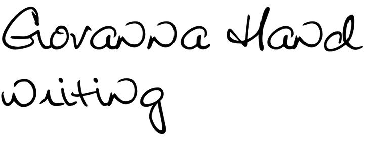 Giovanna Handwriting