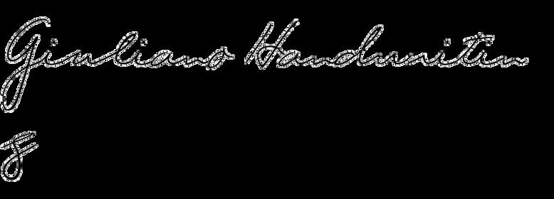 Giuliano Handwriting