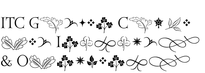 ITC Golden Cockerel Initials & Ornaments