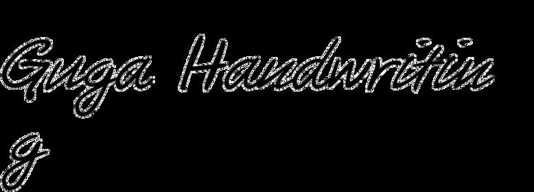 Guga Handwriting