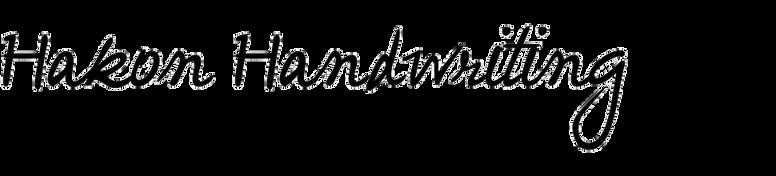 Hakon Handwriting