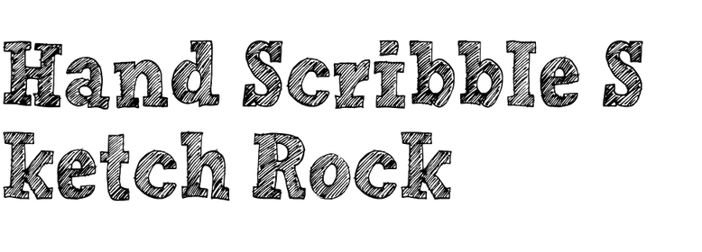 Hand Scribble Sketch Rock In Use Fonts In Use